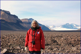 Photograph of Jacquelyn Hams In Beacon Valley, Dry Valleys, Antarctica